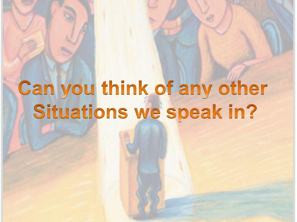 Why do we speak.