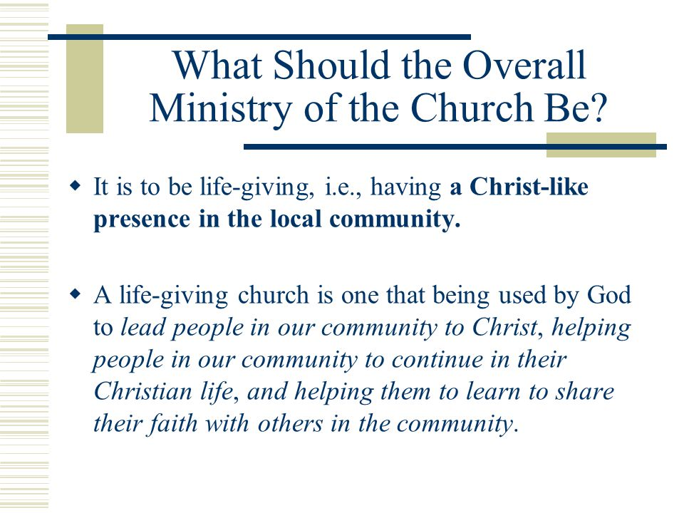 Life-giving Questions. Who are we at _______ [local church] helping.