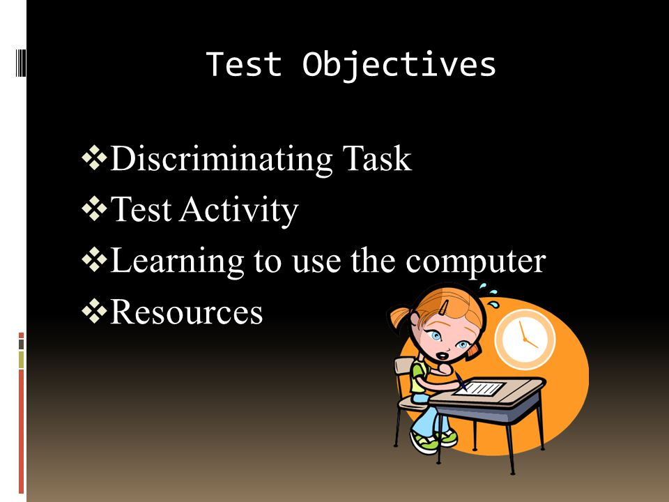 Test Questions  Subjective Testing  A subjective test is evaluated by giving an opinion.