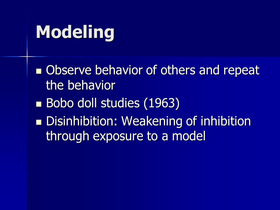 Factors Influencing Modeling: Impact Tendency to Imitate Characteristics of the models: similarity, age, sex, status, prestige, simple vs.