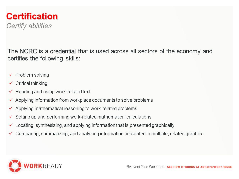 1%47%21%18% Source: ACT JobPro Data 2006-2010 Percentage of U.S.
