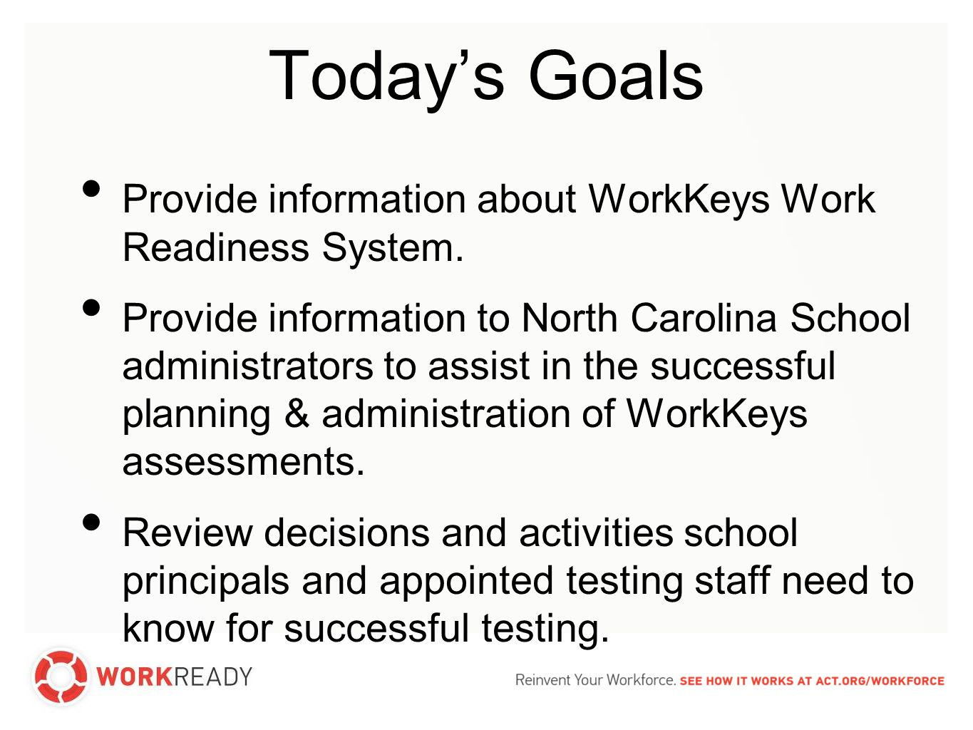Work Readiness System evidence-based Comprehensive, evidence-based solutions.