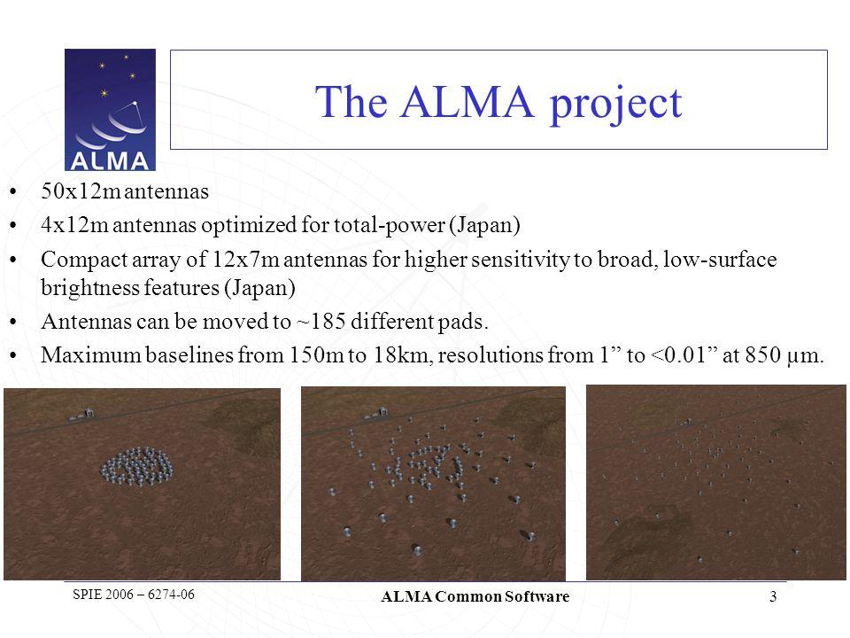4 SPIE 2006 – 6274-06 ALMA Common Software Sensitivity and Angular Resolution
