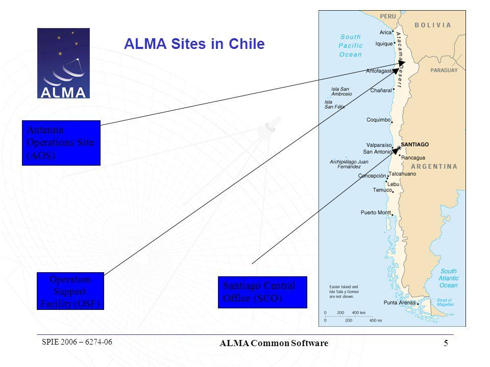 6 SPIE 2006 – 6274-06 ALMA Common Software Chile, Chajnantor plateau - 5000m