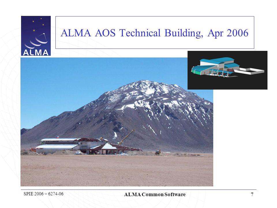 8 SPIE 2006 – 6274-06 ALMA Common Software ALMA Operation Site Facility (2900m – Atacama desert)