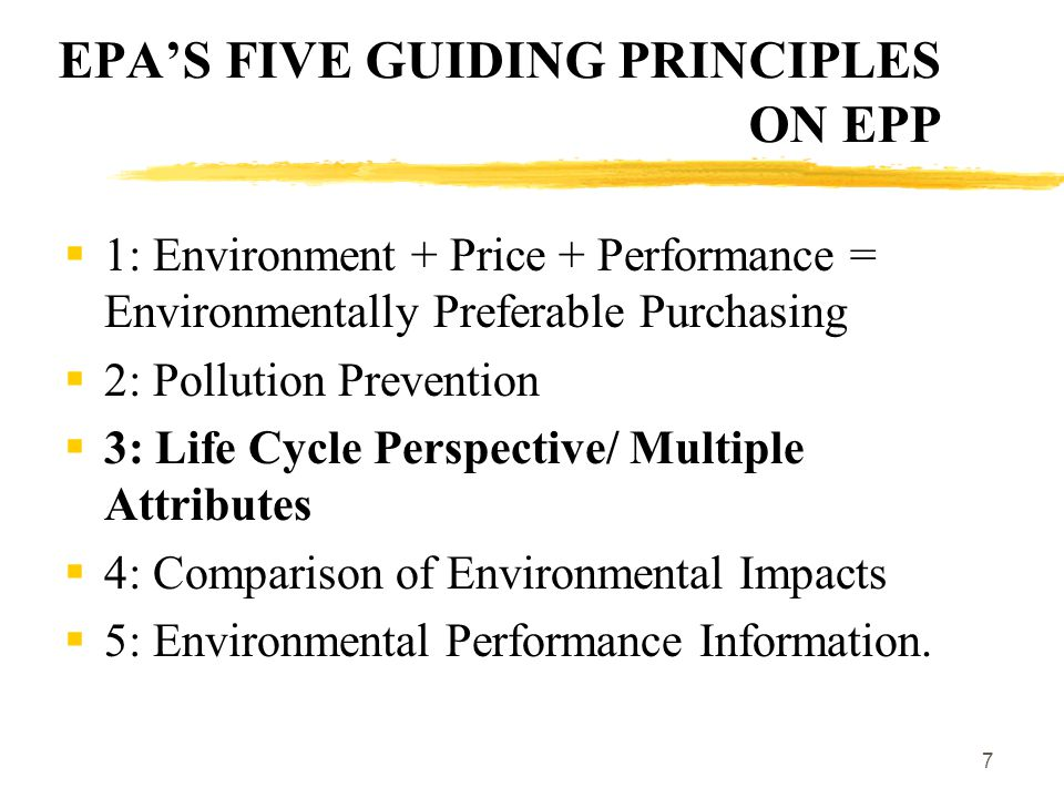 8 WHY CONSIDER LIFE CYCLE IMPACTS. Avoid shifting environmental burden from one media to another.
