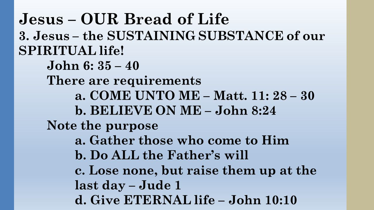 As with the Manna, Some HATE this BREAD OF LIFE John 6: 52 -- The Jews therefore strove among themselves, saying, How can this man give us his flesh to eat.