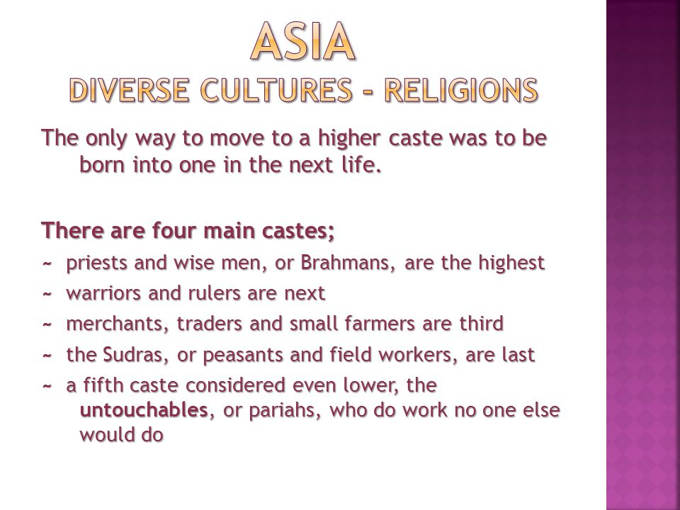 There are divisions within each caste, making Indian social structure very complicated.
