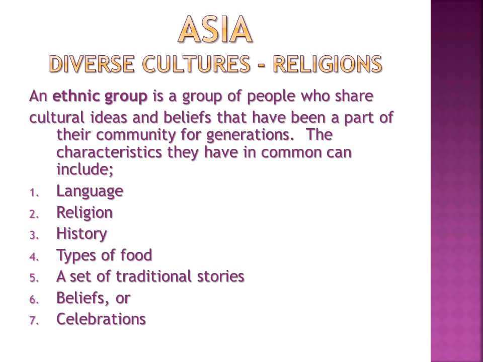 A religious group shares; 1.A belief system in a god or gods, 2.