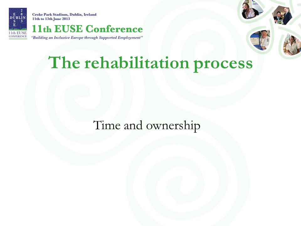 Time - what is time? …but is there also a recovery and rehabilitation process time?