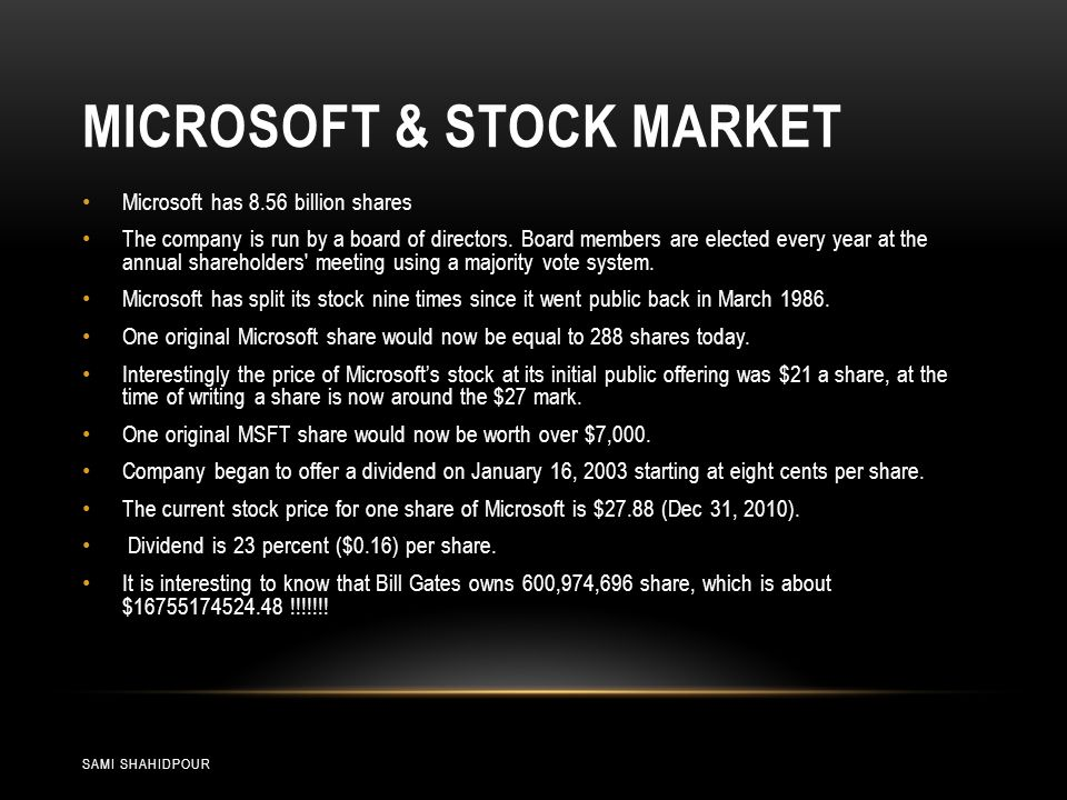 MICROSOFT ANTITRUST CASE 1/2 SAMI SHAHIDPOUR Microsoft operating systems account for approximately 90-95% of microcomputer computer operating systems.