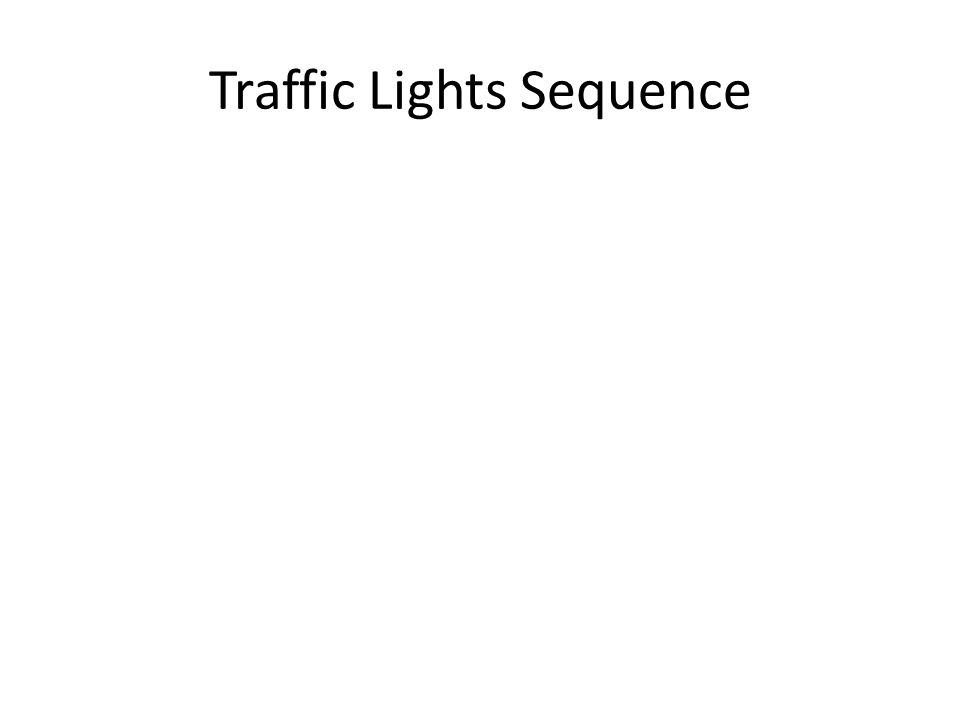 Flowchart plan for the traffic lights How it works Delay 1 Start Green light on Green light off, amber on Delay 1