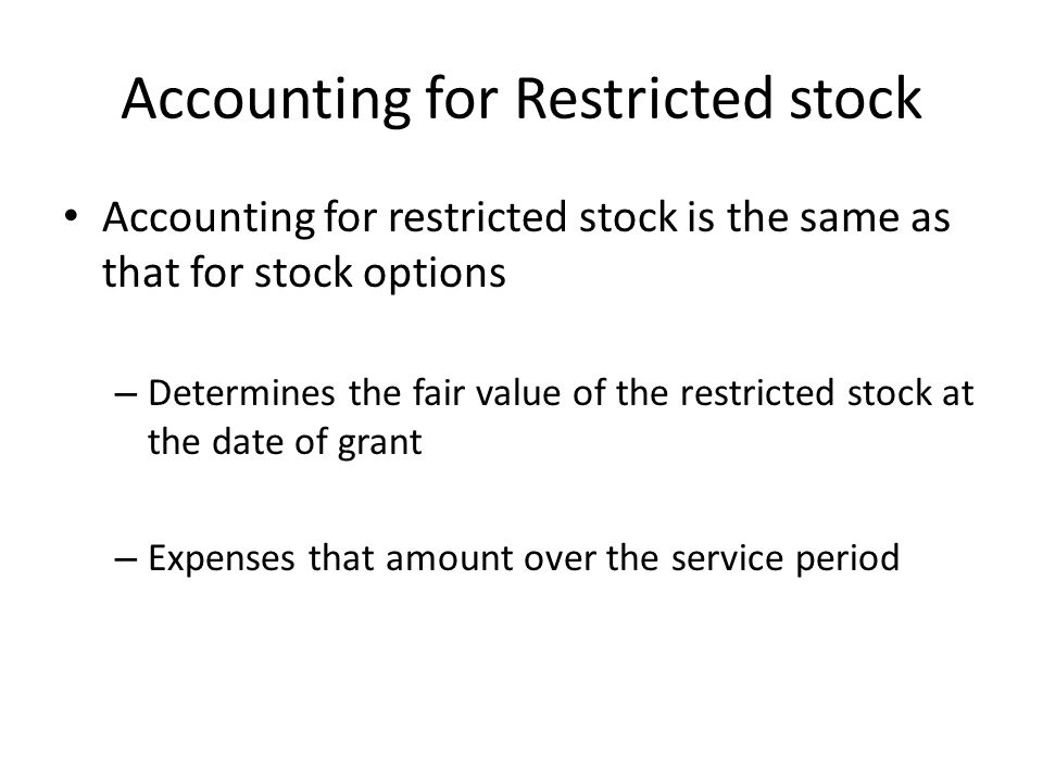 Accounting for Restricted Stocks Assume that on January 1, 2012, Ogden Company issues 1,000 shares of restricted stock to its CEO, Christie DeGeorge.