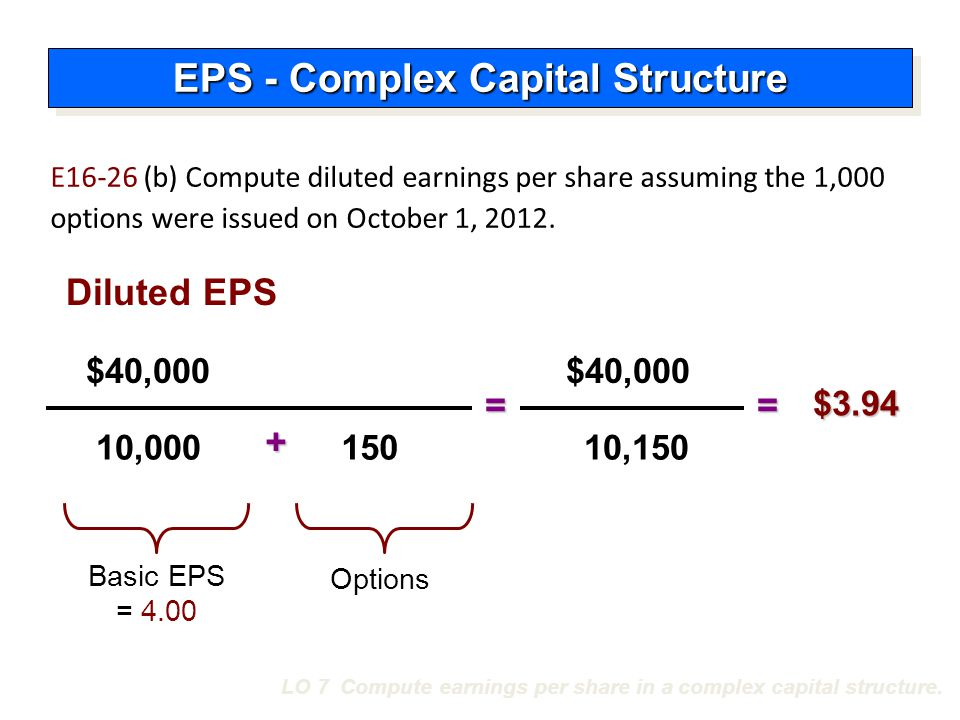 EPS Presentation and Disclosure A company should show per share amounts for:  Income from continuing operations,  Income before extraordinary items, and  Net income.
