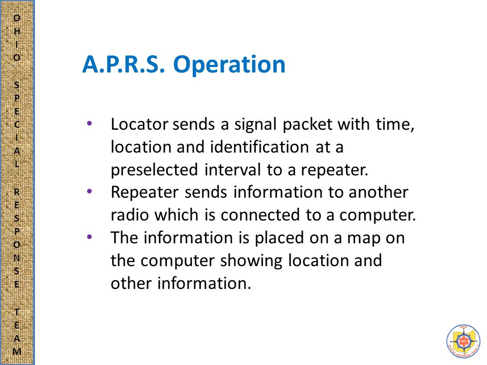 Personal Locator Hand held transceiver: Works through an Amateur radio using GPS.
