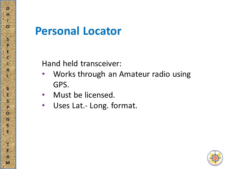 Team or Group Locator Micro-Trak Uses a component device to transmit the location.