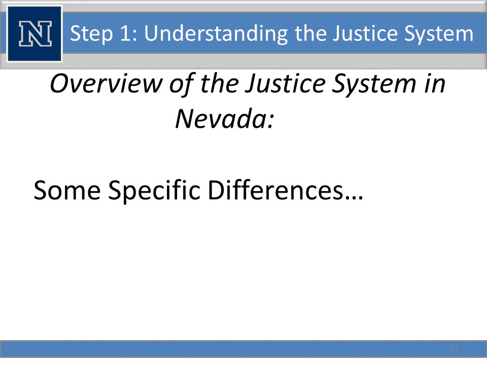 Step 1: Understanding the Justice System Parole and Probation functions joined at the adult level.