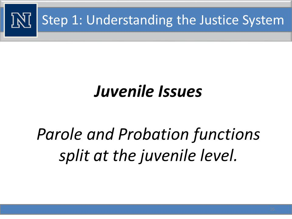 Step 1: Understanding the Justice System Special Corrections Topics in Nevada Split Sentences What are they.
