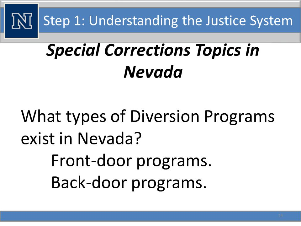 Lunch Assignment 20 Group Task: Describe a puzzling experience with the justice system that we might use to explain the operations of the Nevada system of Criminal Justice.