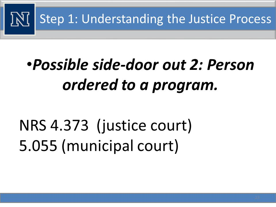 Step 1: Understanding the Justice Process But… Suspension of a sentence can be forbidden by law.