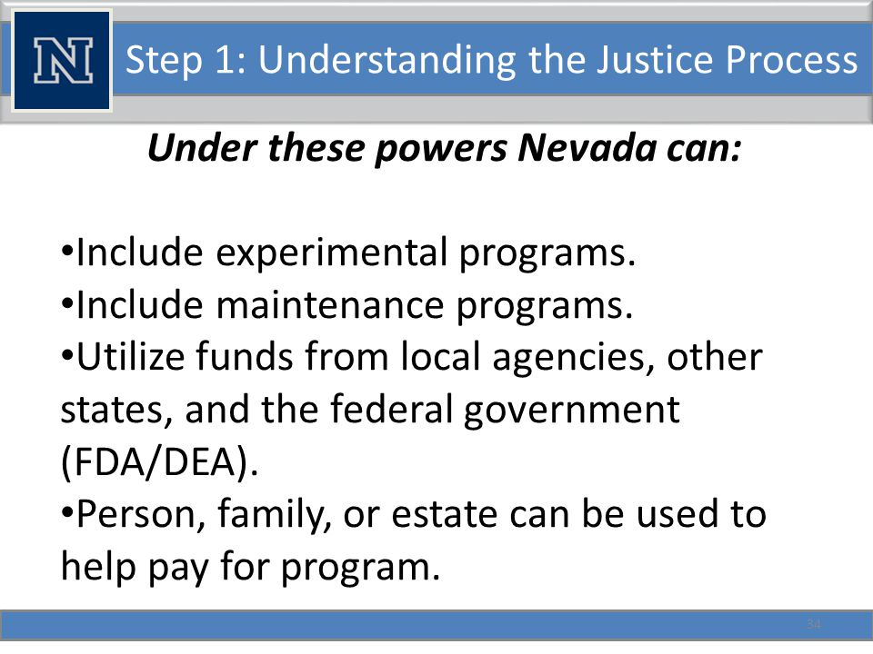 Step 1: Understanding the Justice Process Other Program Information: Programs must provide info if requested by the state (453.690-700).