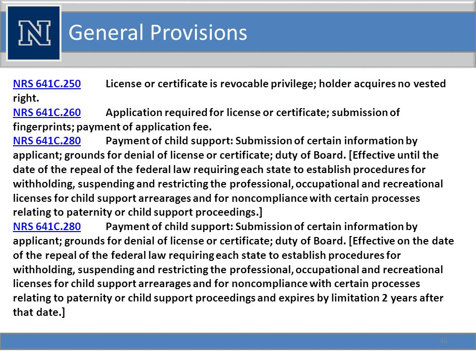 General Provisions 47 NRS 641C.290NRS 641C.290 Examination required for license or certificate.