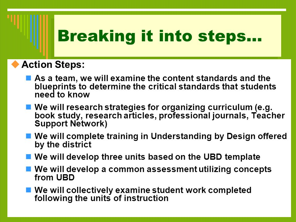 Example 2 Are we using effective teaching strategies.