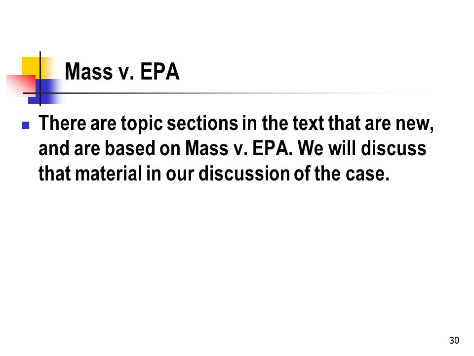 31 Procedural Violations and Causation: Agency Fails to do an EIS for a Dam What is the causation problem.