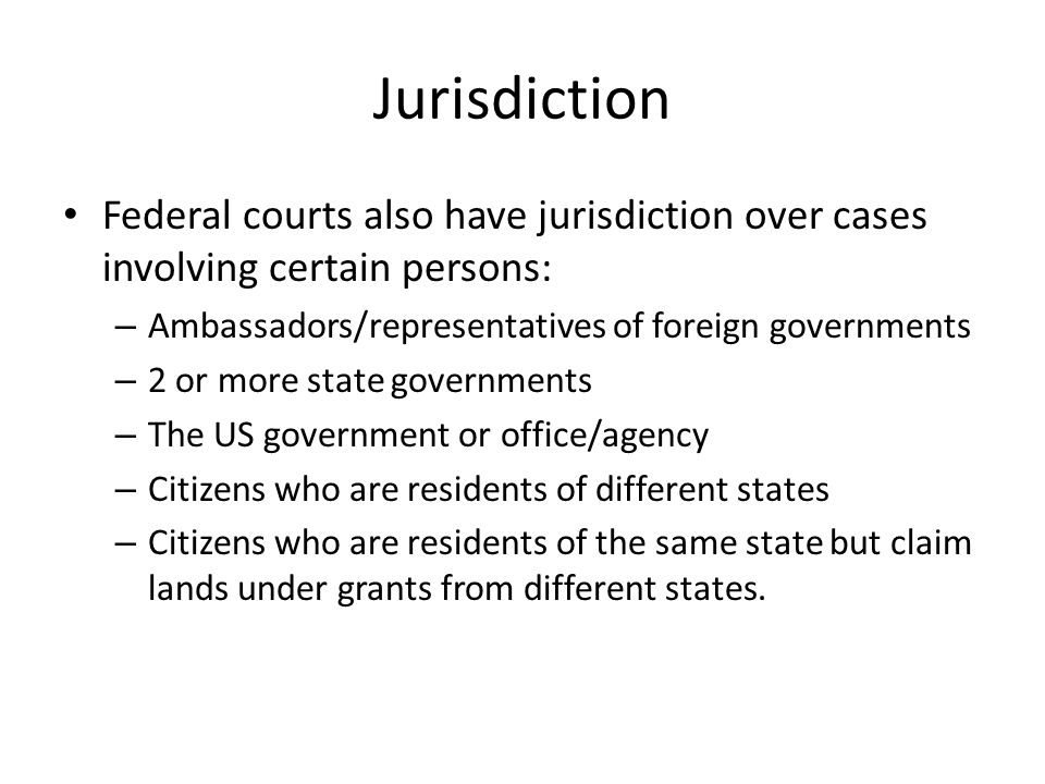 Jurisdiction Concurrent jurisdiction occurs when both state and federal court appear to have jurisdiction.