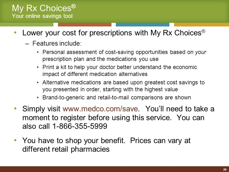 Generic Dispensing is Important… Savings For every 1% of increase generic usage, TRS and its members could save millions of dollars Generics Rx Advantage The next generation of generic copay waiver program Approximately 6,000 web hits per month My Rx Choices My Rx Choices ® 27