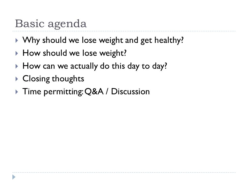 Why should we lose weight and get healthy. This is an important question.