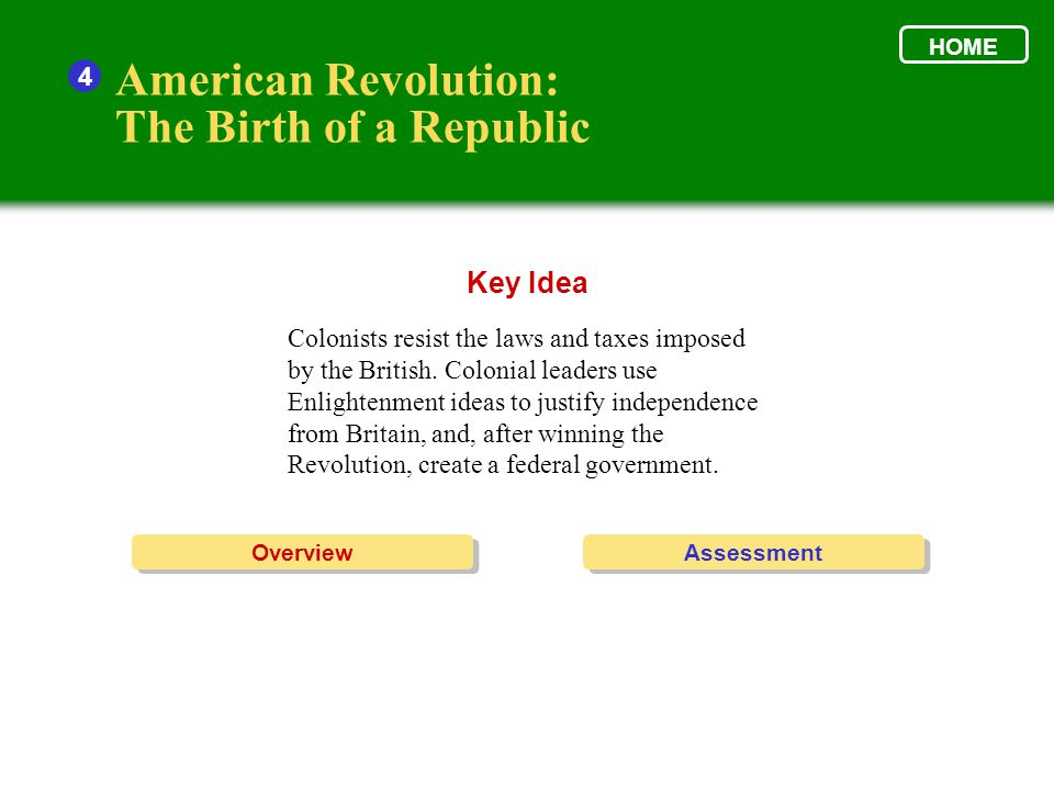 Enlightenment ideas helped spur the American colonies to create a new nation.
