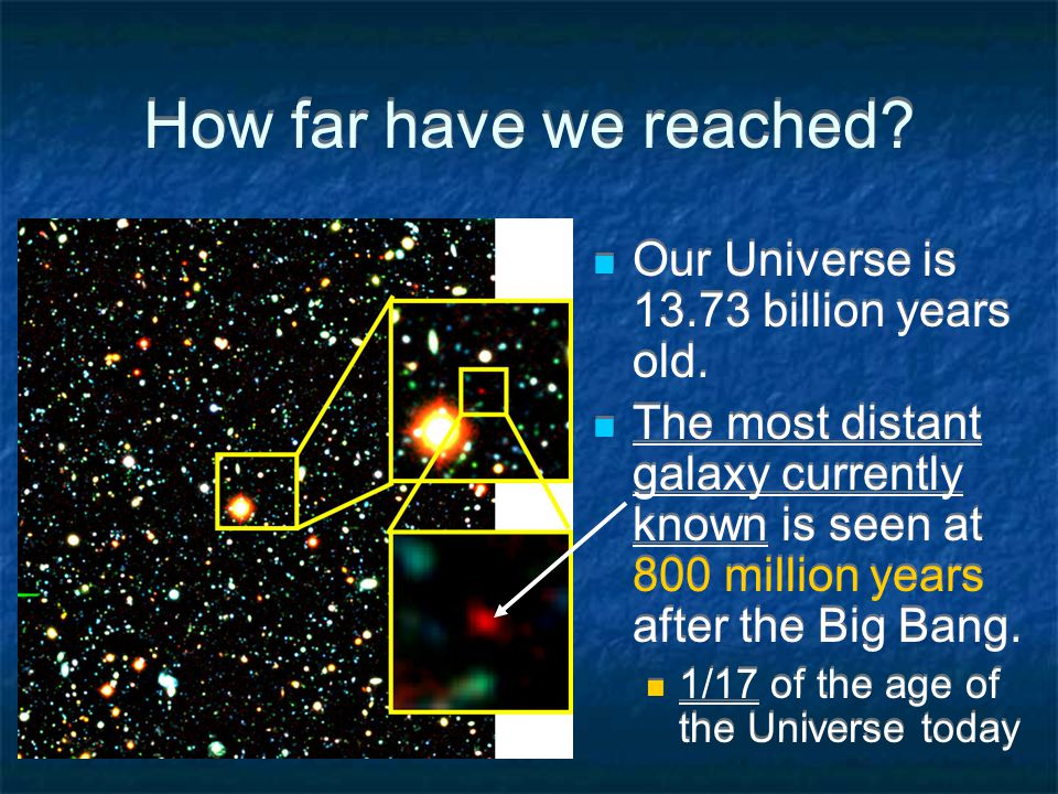 How far can we reach.Galaxies cannot be used to determine the age of the Universe accurately.