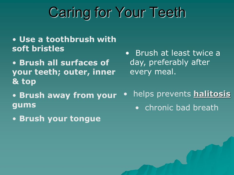 Caring for Your Teeth Flossing Dental floss removes food and plaque from areas that a toothbrush cannot reach.
