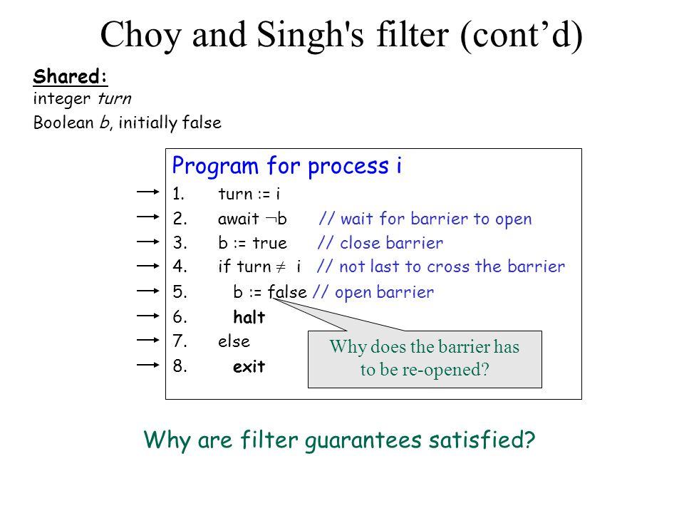 Choy and Sing's filter algorithm Filter #1 Filter #2 Filter #i