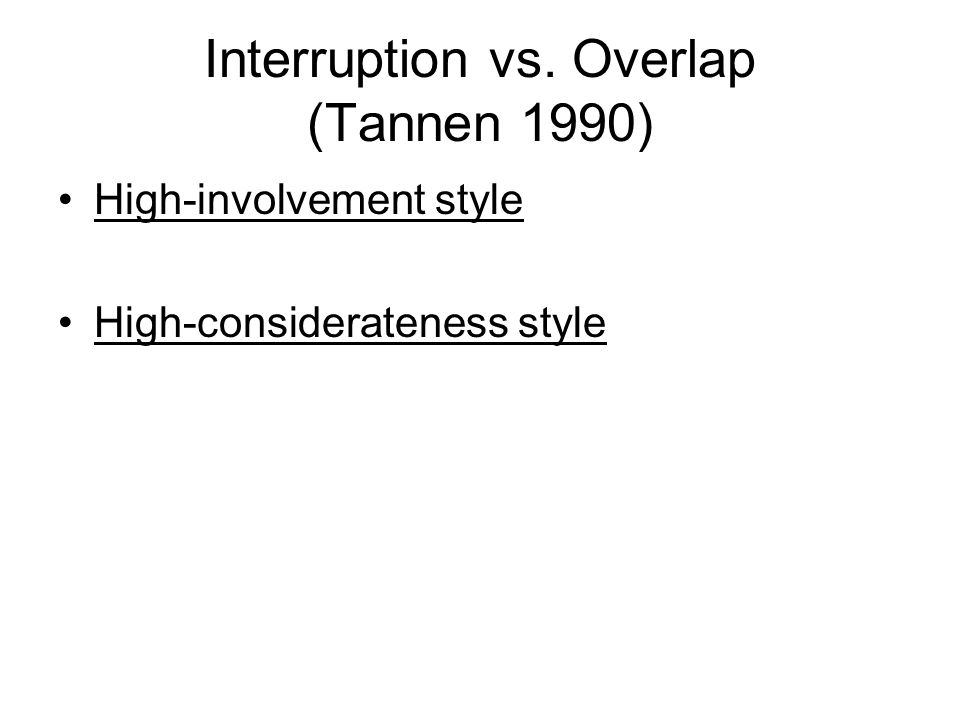 Interruption vs.