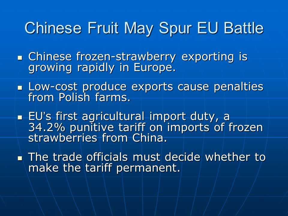 Compare Strawberry Exports