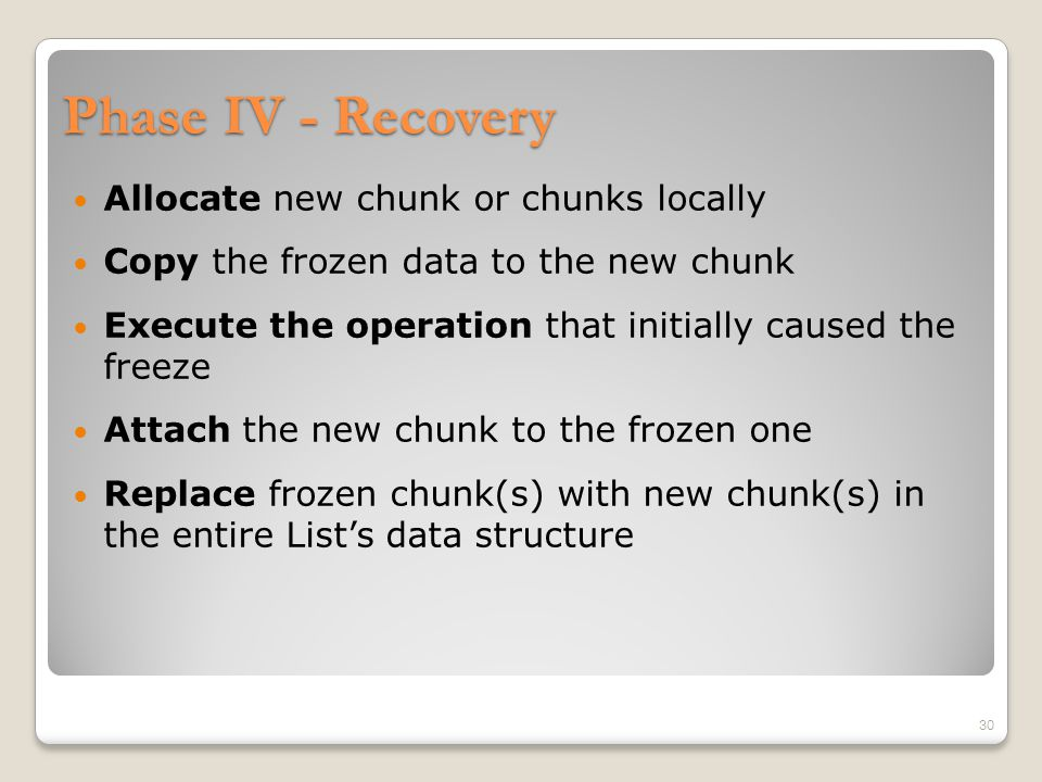 Remarks Search can run on a frozen chunk (and is not delayed).