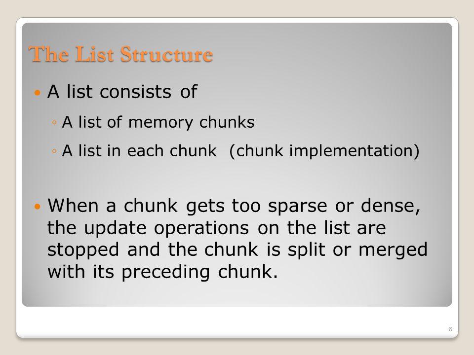 An Example of a List of Fixed-Sized Memory Chunks Chunk A HEAD NextChunk Chunk B NextChunk NULL Key: 3 Data: G Key: 14 Data: K Key: 25 Data: A Key: 67 Data: D Key: 89 Data: M EntriesHead 7