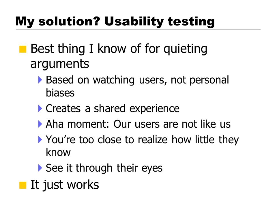 What is a usability test.