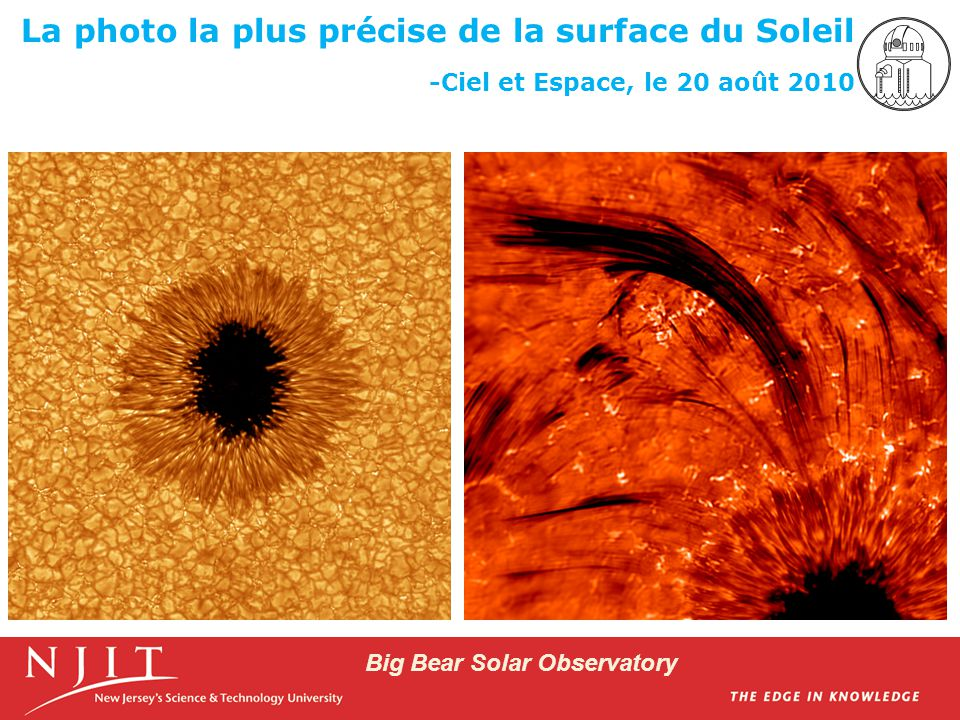 Big Bear Solar Observatory Hinode Satellite (Left) and NST (Right) Images of the Sun the Same Time/Place