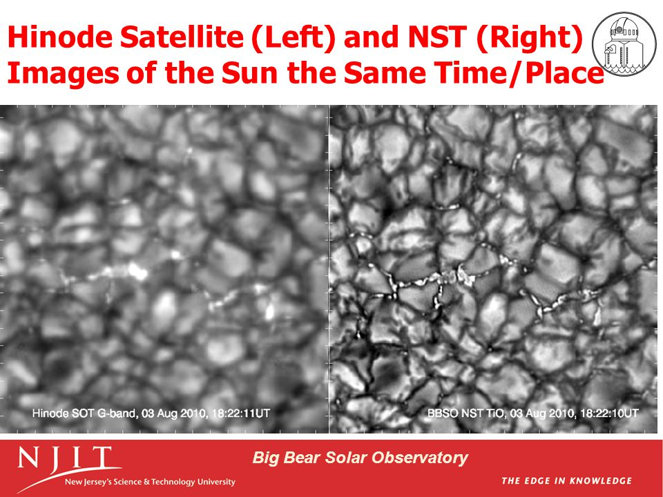 Big Bear Solar Observatory Granulation & Bright Points in Time