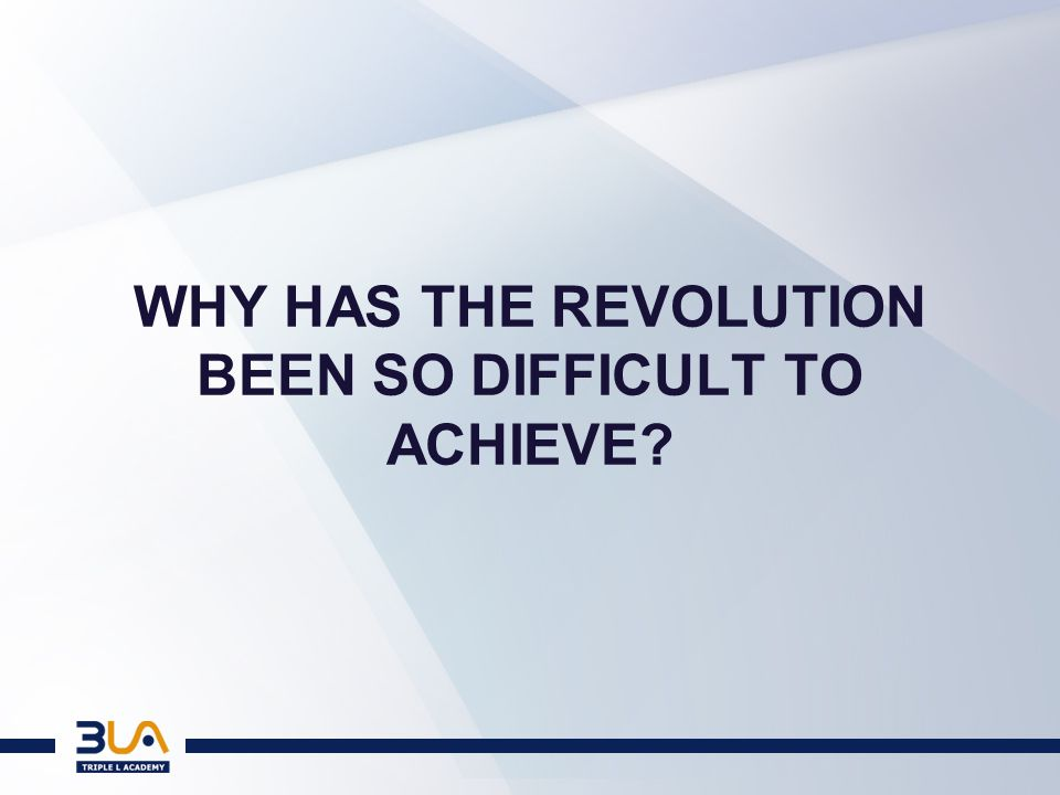 THE CONDITIONS FOR A REVOLUTION Who are the revolutionaries.