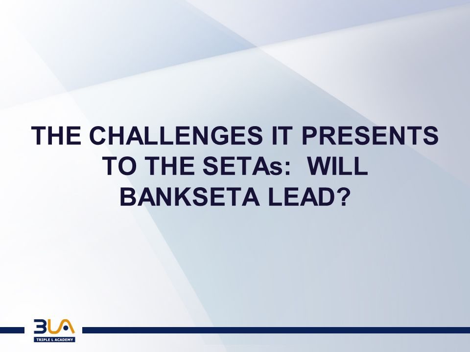 THE FUTURE OF THE SETAs [54]SETAs will also play an important role, working with the QCTO in the design and quality assurance of work based learning processes.