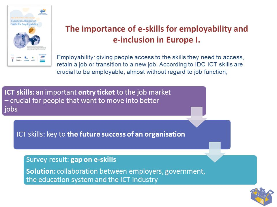 The importance of e-skills for employability and e- inclusion in Europe II.