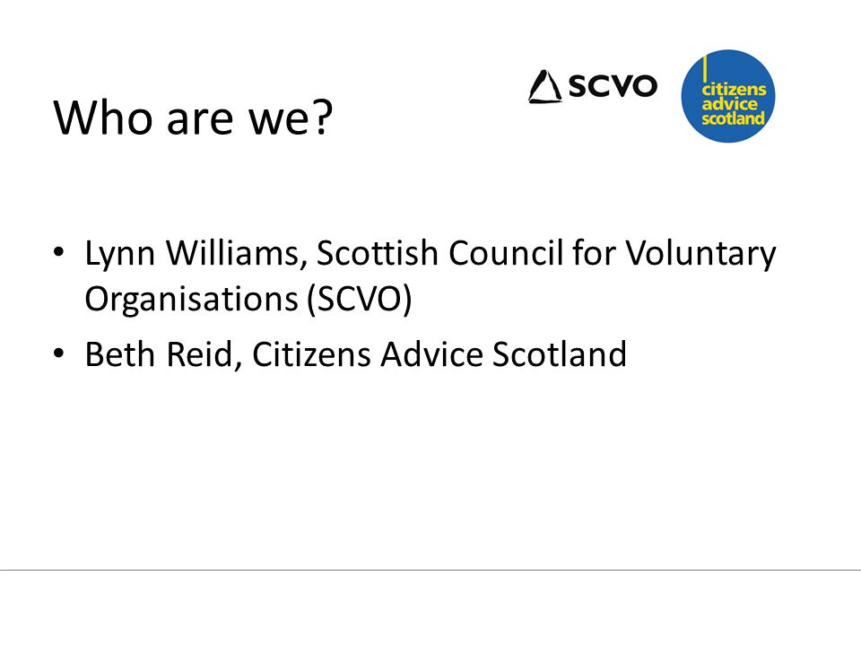 Aim of session: What do we mean by third sector.