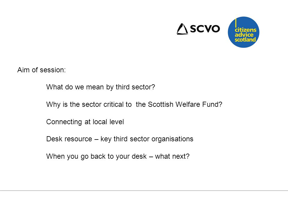 What do we mean by the Third sector?.