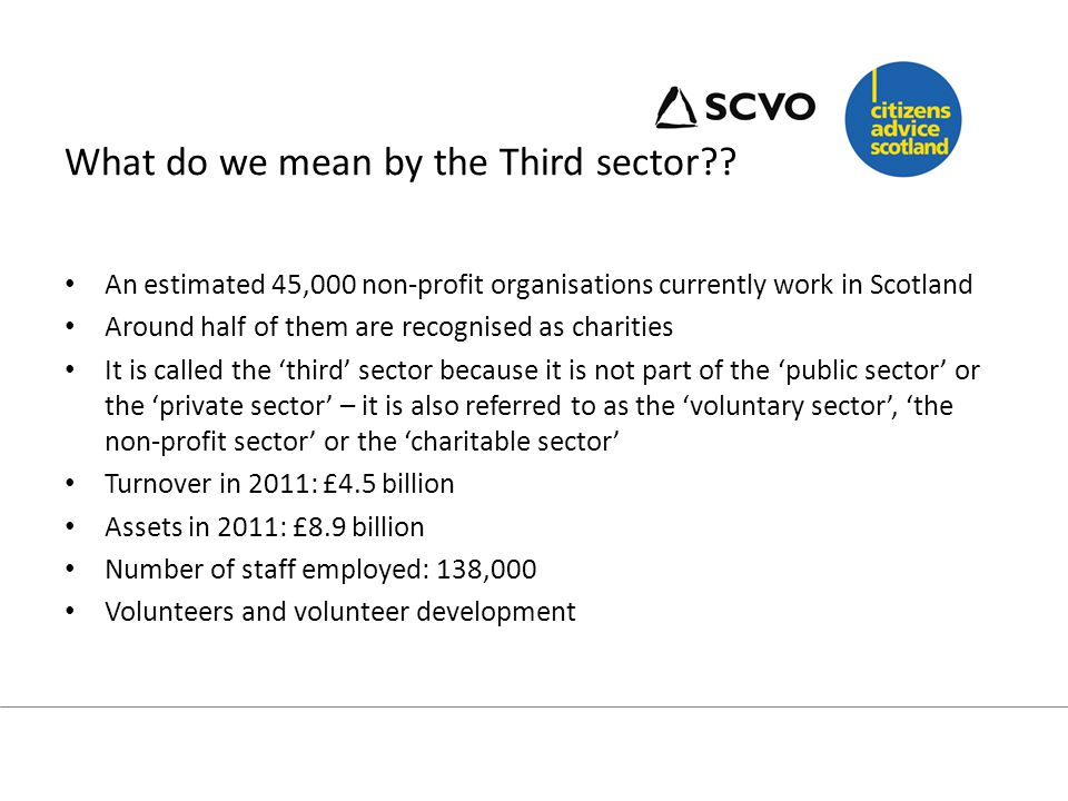 What do we mean by the Third Sector.