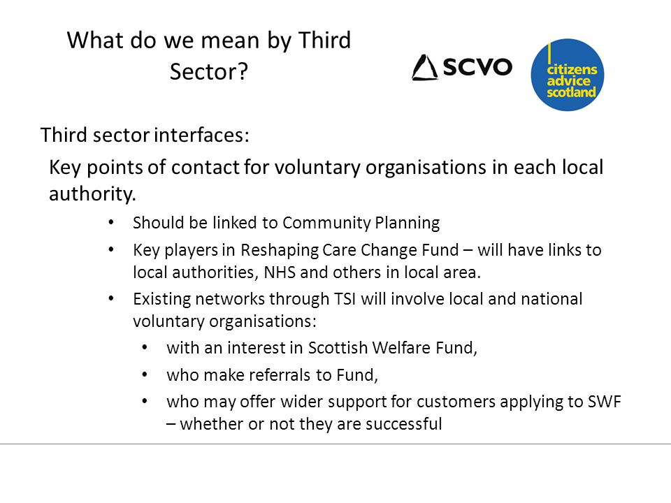 What do we mean by Third Sector.