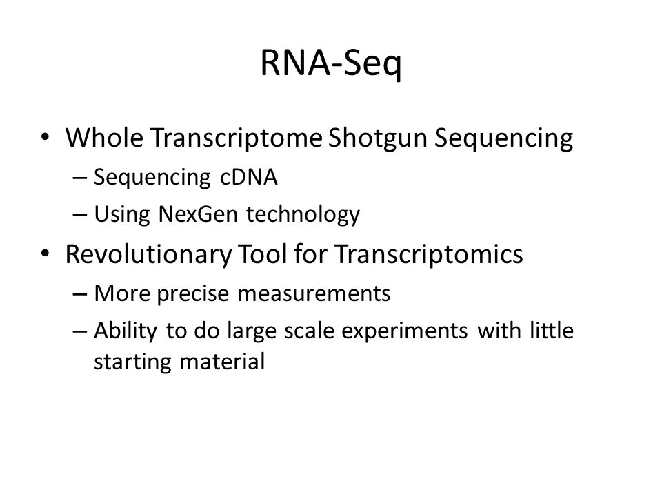 RNA-Seq Experiment Wang et al. 2009